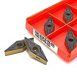 Farleshop 10 unids/Set VNMG160408 PM 4225 Herramienta de carburo Herramientas de torneado de Metal indexables CNC Herramientas de torneado VNMG160404 PM4225 Herramientas de Corte