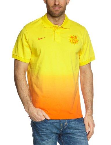 Nike Herren Polo-Shirt Fc Barcelona Authentic Grand Slam, Tour Yellow/Safety orange/Safety orange, S, 478156-719