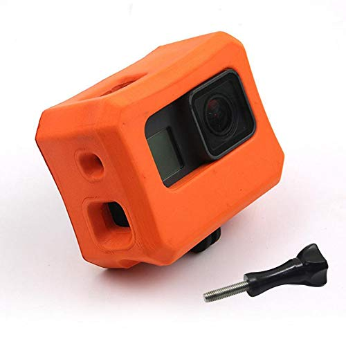 Float Case für GoPro 7/6/5, Floaty Housing Frame for GoPro Hero 7 Hero 6 Hero 5 Black, Camera Anti-Sink Floater Cover Floating Accessory for Water Sports - Orange