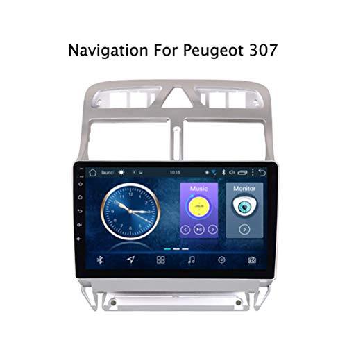 Android 8.1 Auto Stereo Radio Video Player 9 Zoll HD 1024 * 600 Touchscreen Navigation für Auto, Unterstützung Bluetooth 4.0 WiFi FM Spiegel Link,für Peugeot 307 2004-2013,4G WiFi:1+16G