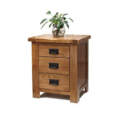 ZGONGLQQ nachtkastjes, Amerikaanse landelijke nachtkastje houten bijzettafel met ladekast, geschikt voor: woonkamer/slaapkamer/studeerkamer, 50x41x59.5cm