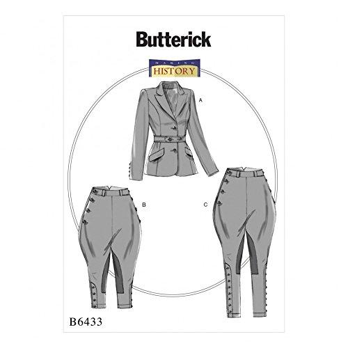 Butterick Schnittmuster 6433 Damenjacke, Reithose und Reithose