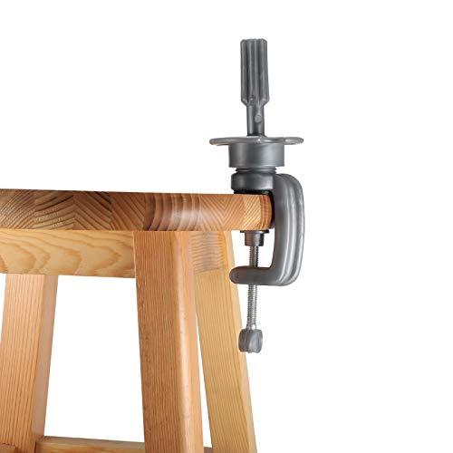 Ständer Übungskopf Neverland Einstellbar Halter Trainingsköpfe für Friseure Mannequin Kopf Halter Frisierkopf Ständer Tischklammer Clip Stütze Grau