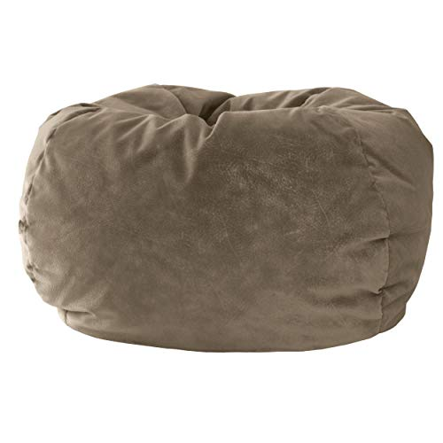 Gold Medal Bean Bags Gold Medal Microsuede Bean Bag, Extra Large, Buff