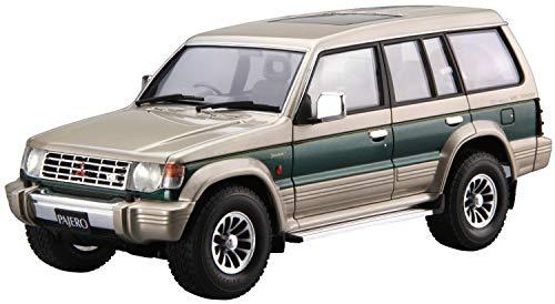 Aoshima 1/24 Scale The Model Car 107 Mitsubishi V43W Pajero Super Exceed 1991 - Plastic Car Model Building Kit # 57100