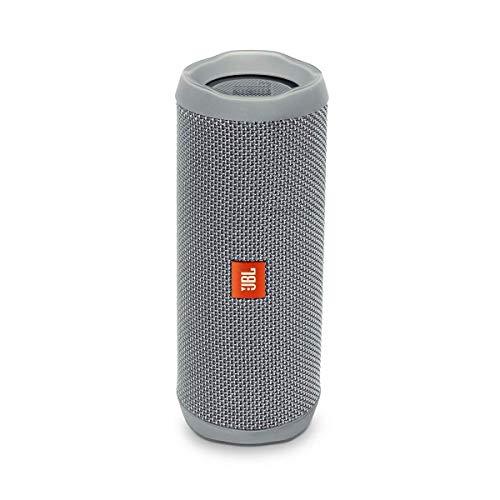 JBL Flip 4 Bluetooth Box in Grau – Wasserdichter, tragbarer Lautsprecher mit Freisprechfunktion & Sprachassistent – Bis zu 12 Stunden Wireless Streaming mit nur einer Akku-Ladung