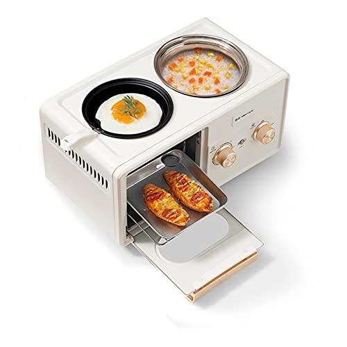 Asdfgh Mini Horno Eléctrico Máquina De Desayuno De Cuatro En Uno, Horno De Mesa 1350 6L Configuración De Temperatura 30-230  Horno De Tostadora Multifunción, Tostadora Automática Pequeña, Tostador De