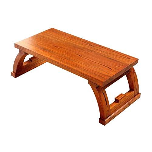 Tables Basse en Bois Salon Basse Basse Moderne Simple Tatami Basse Baie Vitrée Bureau D'ordinateur Chambre Basses (Color : Brown, Size : 70 * 45 * 40cm)