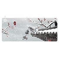 大型加熱ゲーミングマウスパッド、滑り止めラバーベースのマウスパッド、ラップトップ防水デスクパッドコンピューターキーボードマウスパッド,Htxd1001