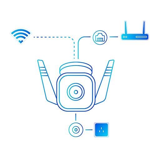 TP-Link Tapo C310 Überwachungskamera Aussen, WLAN IP Kamera, 3MP Hochauflösung, 30m Nachtsicht, IP66 wasserdicht,Bewegungserkennung,Alarmmeldung, Zwei Wege Audio,unterstützt Alexa und Google Assistant