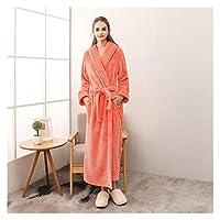 MGHN バスローブ カップルコーラルフリースバスローブ着物ローブ暖かい冬のホームパジャマ 浴衣 (Color : Women Robe 9, Size : Medium)