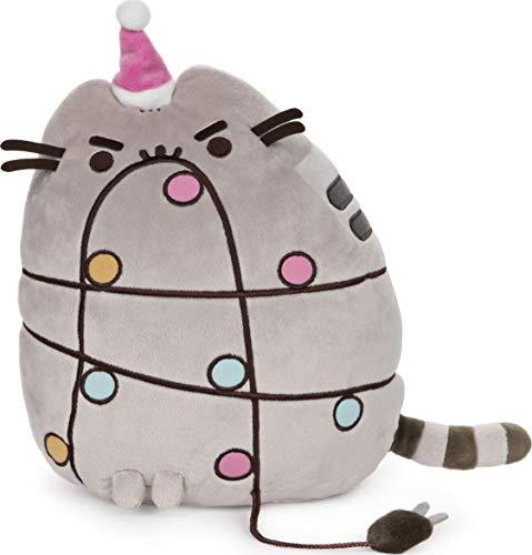 GUND Pusheen Holiday Xmas Light Up LED Plush Stuffed Animal Cat
