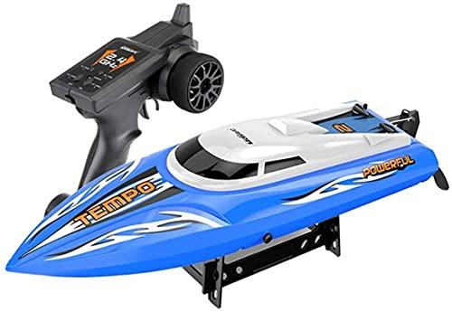 Motoscafo RC, barca di controllo remoto radio 2.4G, 25-30 km / h nave RC ad alta velocità all'ora, sistema di raffreddamento circolante ad acqua, regali per bambini e adulti