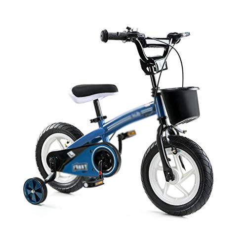LKAIBIN Bicicleta de campo para niños de 2 a 10 años de edad, portabicicletas para niños y niñas, bicicleta de montaña, doble freno sensible, regalo (color: azul, tamaño: 14 pulgadas (85 x 35 x 65 cm)