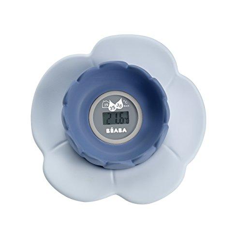 BÉABA Thermomètre de Bain Lotus, Gris/Bleu