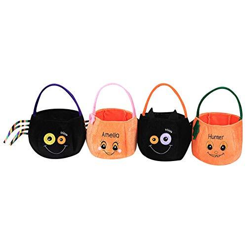 Halloween Goodie Taschen,4pcs Halloween Tasche Flax Leinen Party Süßigkeit Geschenkbeutel Tragetasche,Halloween Thema Staubbeutel für Halloween Party (Pack 1)