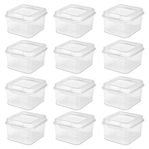 Sterilite Fliptop Box, Clear, Set of 12 Now $11.82 (Was $22)
