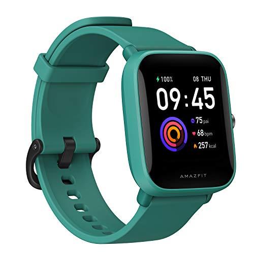 Amazfit Bip U Smartwatch Fitness Reloj Inteligente 60+ Modos Deportivos 1.43  Pantalla táctil a Color Grande 5 ATM (SpO2) Oxígeno en Sangre Frecuencia Cardíaca (Verde)