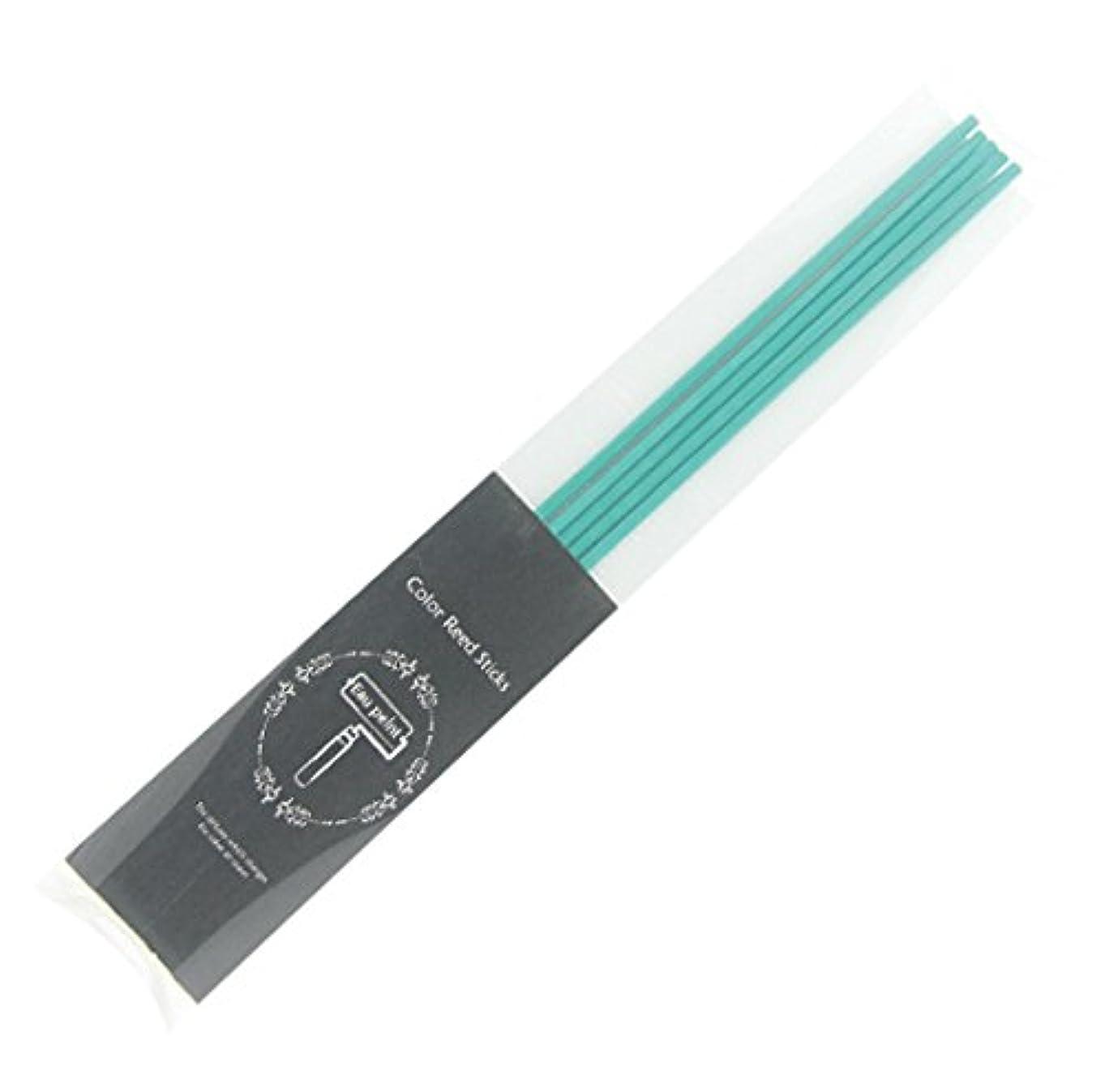 ボーナス統治可能粘液Eau peint mais+ カラースティック リードディフューザー用スティック 5本入 ターコイズ Turquoise オーペイント マイス
