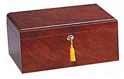 small Milan humidor, rosewood, partitioned Spanish cedar wood tray, holds 75-100 cigars from high quality importers