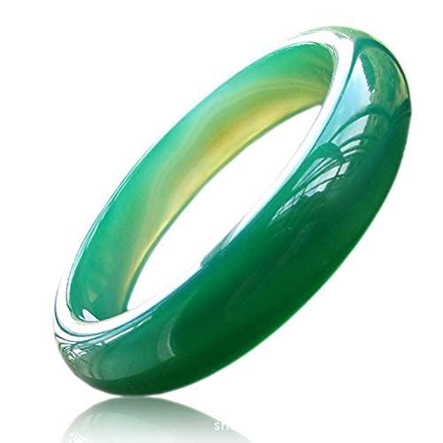 North King Pulsera De Jade,Pulsera De Calcedonia Verde Cristal Chino Natural,JoyeríA Redonda De Estilo De Moda Regalo, Amor,con Exquisito Joyero