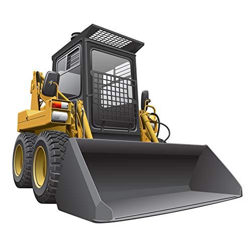 StikArt Big Skid-Steer Construction Truck Wall Decal