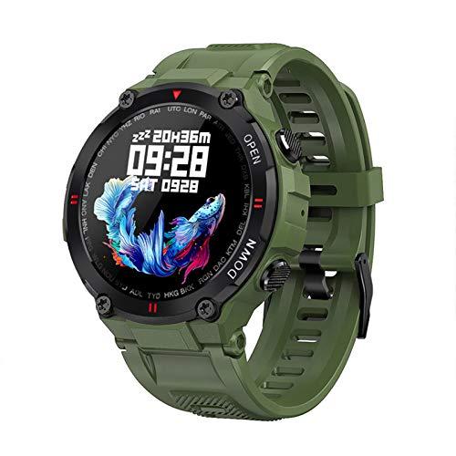 QAK El Último K22 Smart Watch Men's Bluetooth Call Multifunción Music Control Music Clock Remody Sports Smart Watch para iOS Y Android,B