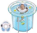 ZXHFDC Bañera Inflable para niños, bañera Plegable Plegable para niños, Barril de baño, Aislamiento para el hogar, Barril de baño, bañera Gruesa