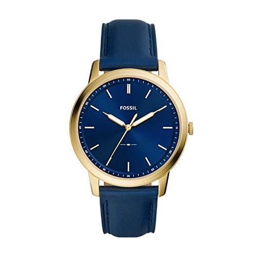 Fossil The Minimalist 3H Blue Analog Watch FS5789