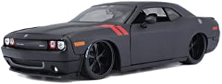 2008 Dodge Challenger Hardtop, Matte Black - Maisto 32529BK - 1/24 Scale Diecast Model Toy Car