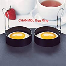 Stainless Steel Egg Ring,2 Pcs Round Breakfast Household Mold Tool Cooking Tool Omelette
