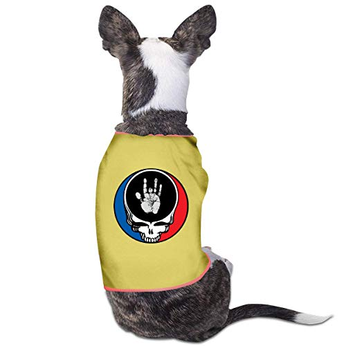 Pet Clothes T-Shirt Grat-eful De-ad Jerry Hand Dog Cat Tank Top Puppy Costumes Pet Coats