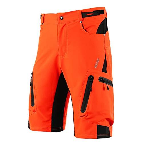 Dreamworldeu Herren MTB Hose Radhose Schnell Trocknend Wasserabweisend Atmungsaktive Kurz Fahrradhose Shorts
