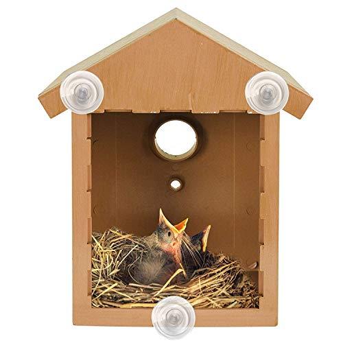 Nistkasten-Set für Wildvögel, Vogelhaus-Kit mit Fenster und Einweg-Spiegelfolie