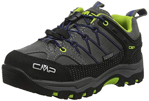 CMP Kids Rigel Low Trekking Shoes WP, Scarpe da Arrampicata Basse Unisex-Bambini, Nero (Graffite-Marine 35ud),...