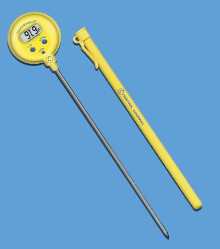 Lollipop Thermometer, TRACEABLE, F/C, -50 to 300C, 8 INCH STEM, 1.0C, Control Company 4371