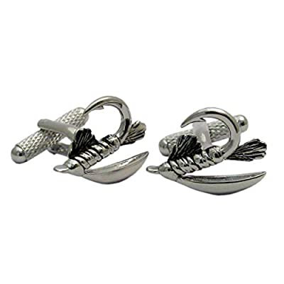 Onyx - Art Quality Cufflink Set Presentation Boxed - Sports Collection (Fly Fishing)
