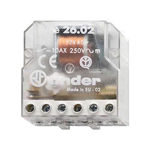 Finder Serie 26–RELE Netzwerkdose Schalter Bipolar 2Kontakt offen 230VAC