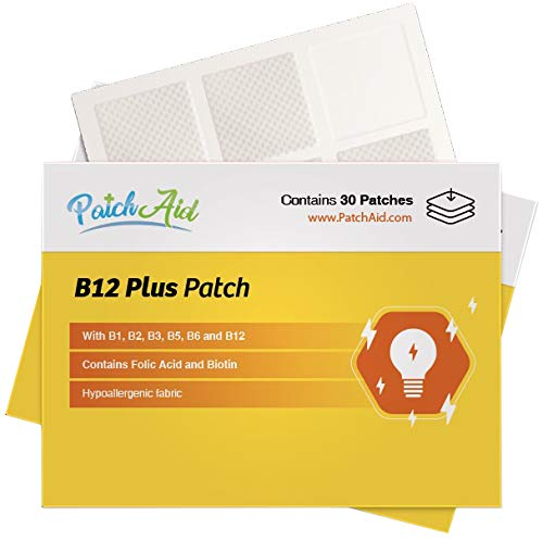 B12 Energy Plus Topical Patch by PatchAid (1-Month Supply)