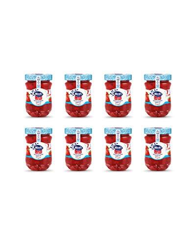 Hero Light Confettura di Fragole light, 8 vasetti da 280 gr, marmellata e confettura extra, frutta di alta qualità, senza conservanti e senza coloranti, pochissime calorie per porzione
