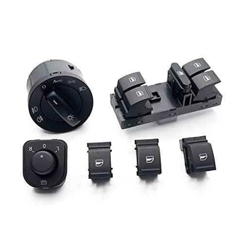 Interruptor de Ventana de Coche para Jetta mk5 Golf 5 6 tiguan, para Passat b6 CC 5KD 941 431B 1F0 959855 1K4 959857 1K0 959 565H, Interruptor de Ventana de Espejo de Faro