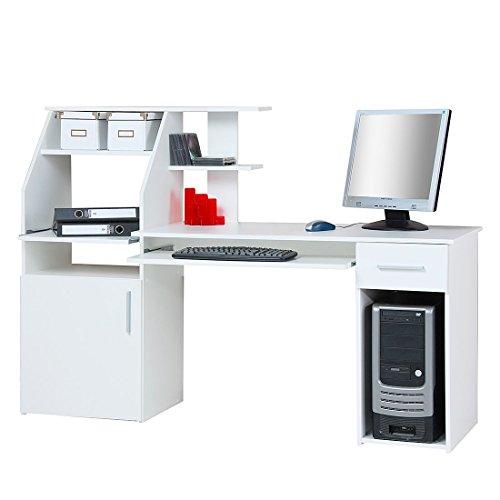 Möbeldesign Team 2000 GmbH 4031 - Computertisch/Schreibtisch/PC-Tisch, weiß