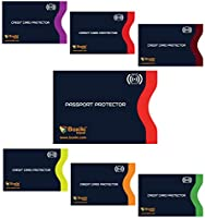 RFID Blocking Sleeves, Set with Color Coding | Identity Theft Prevention RFID Blocking Envelopes by Boxiki Travel (Set...
