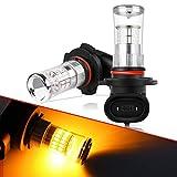 Autofeel h10 LED フォグランプ LEDバブル DC12-24V 48W イエロー 360°発光 コンパクト設計 2個入