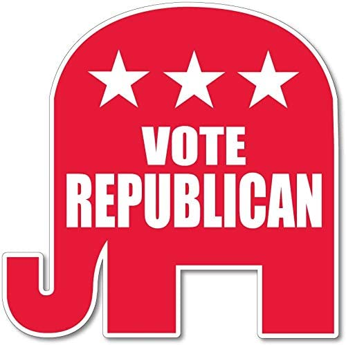 VictoryStore Vote Republican 安売り Elephant ランキングTOP5 Shaped 2 St with Sign Yard