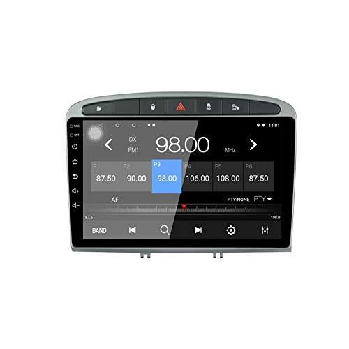 LEXXSON Android 10.1 Autoradio per Peugeot 308/408 2010-2016 | 9 pollici Touch Screen Radio GPS Wifi Controllo del volante Collegamento specchio Ingresso telecamera posteriore Impostazione EQ Canbus