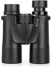 Eono by Amazon - HD 10x42 | Prismáticos Profesionales, BAK4 FMC Binoculares para Adultos, compactos y livianos, para el Concierto de observación de Aves de Hunting Wildlife, con Estuche y Correa