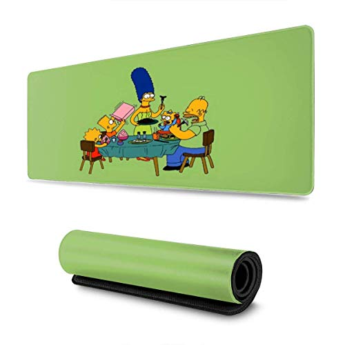 Mouse Pad Anime Cartoon Simpsons Printed Large Home Non-Slip Colorful Gaming Dedicated Non-Slip Student Dormitory Rectangle Rubber Mouse Pad 80X30Cm Custom Computer MousepadT