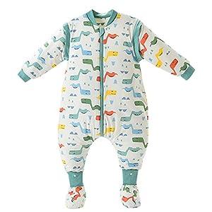 FEOYA – Saco de dormir con pies para bebé de 2 a 3 años, saco de dormir con piernas para bebé y niña