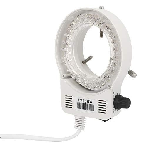 Accesorio para microscopio Lámpara de anillo LED Microscopio Anillo de luz Brillo ajustable Anillo auxiliar Iluminación de luz para(European standard (100-240v))